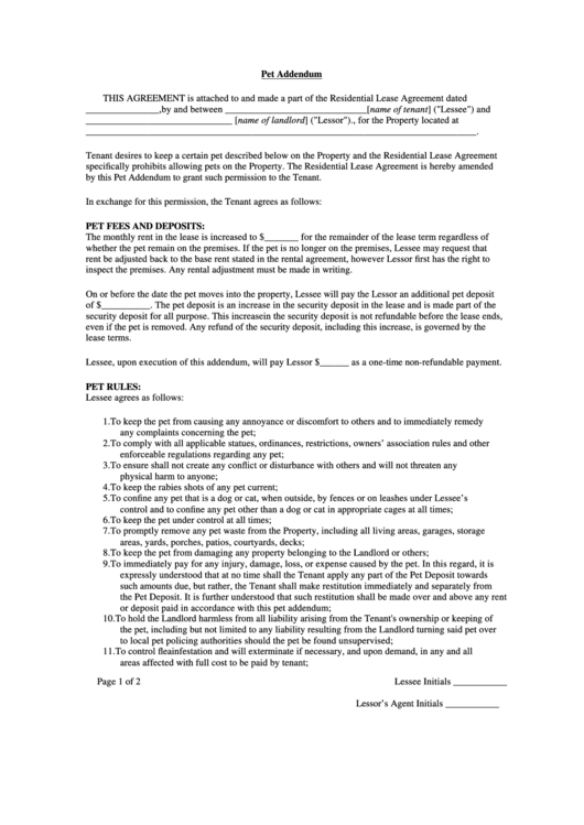 442 T Pet Addendum Printable Pdf Download