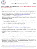 Form Tvc-ed-1a Texas Hazlewood Act Exemption Application