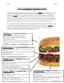 Burger 5 Paragraph Essay Format