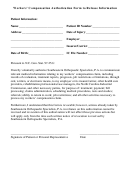 Workers' Compensation Authorization Form To Release Information