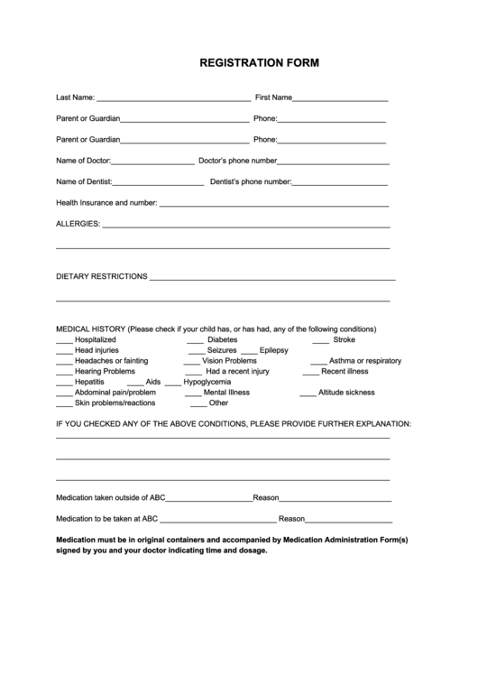 60 sports registration form templates free to download in pdf for Sport registration form template