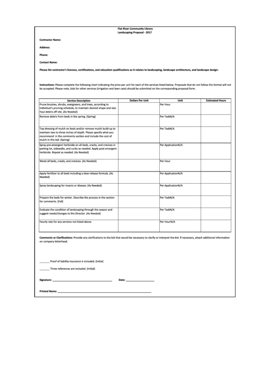 Business Form Mowing Best Lawn Care Estimate Templates Landscaping Proposal