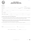 Eye Exam Waiver Form - State Of Illinois