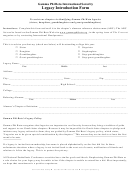 Gamma Phi Beta International Sorority Legacy Introduction Form