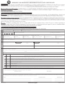 Form Mv-253g - Request For Business Amendment/duplicate Certificate