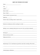 Obituary Information Form
