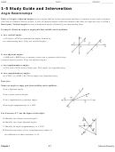 Angle Relationships - Angle Relationships