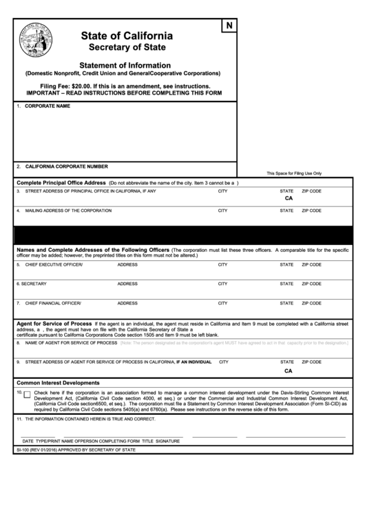 Top California Form Si-100 Templates free to download in PDF, Word ...