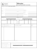 Occupational Health Committee Minutes Form - Saskatchewan