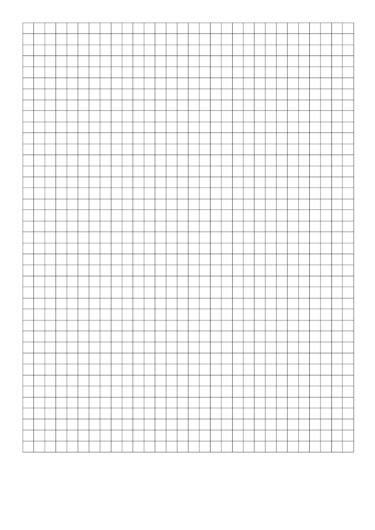 Graph Paper - 1x1 Grid Printable pdf