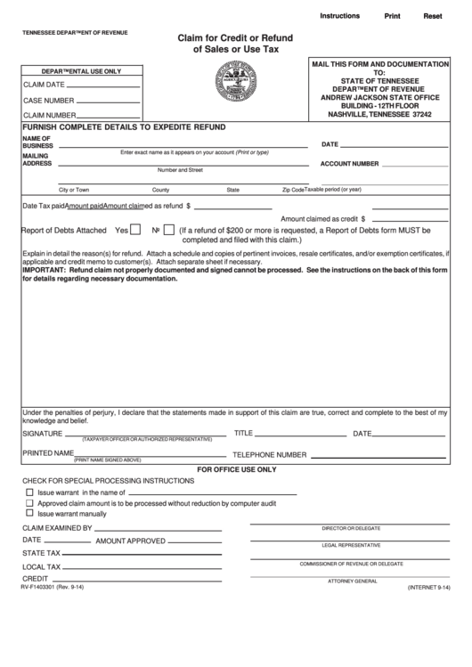 Top Tn Sales Tax Form Templates free to download in PDF, Word and ...