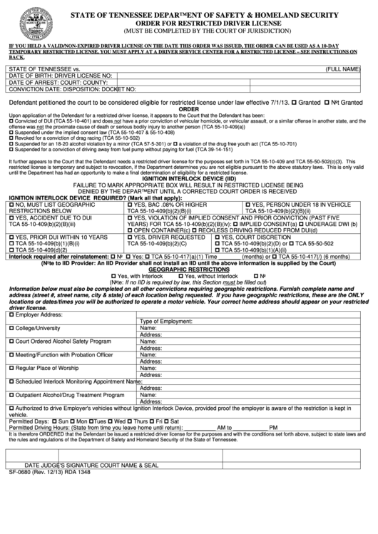 fillable form sf-0680
