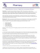 Tricare Pharmacy Program Medical Necessity Form For Targeted Immunomodulatory Biologics (tibs) - Cimzia, Enbrel, Kineret, Orencia Sq, Simponi