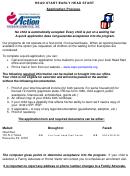 Capc Head Start/early Head Start Program Application