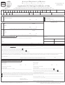 Application For Salvage Certificate Of Title - Alabama Department Of Revenue