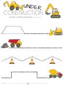 Under Construction - Scissor Cutting Practice (straight Lines)