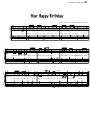 Your Happy Birthday (words And Music: Charlene Anderson Newell)