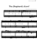 The Shepherd's Carol (words And Music: Daniel Lyman Carter)