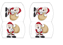 Gift Box Template - Santa