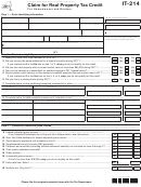 Form It-214, 2011, Claim For Real Property Tax Credit