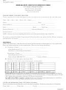 Immigration Assistance Request Form