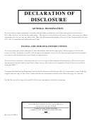 Declaration Of Disclosure Fl-140