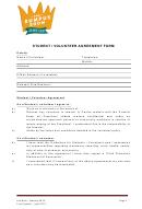 Student / Volunteer Agreement Form