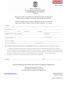 Request For An Order/authorization - Michigan Secretary Of State
