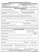 Maryland New Hire Registry Reporting Form