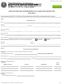 Form Aqi-1, Application For Appointment
