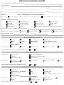 Special Meals Prescription Form