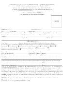 Visa Application Form - Embassy Of The Federal Democratic Republic Of Ethiopia