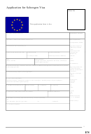 Application For Schengen Visa Form