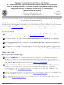 Uscis Form M-1164 - Optional Checklist For Form I-765 (c)(3)(c) Filings