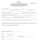 Form 4-a - Declaration Of Recommender For Belize Passport Appplication