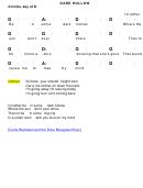 Dark Hollow Chord Chart - 4/4 Time, Key Of D