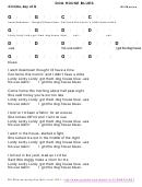 Bill Monroe - Dog House Blues Chord Chart