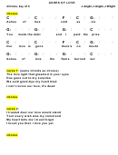 J. Anglin; J. Anglin; J. Wright - Ashes Of Love Chord Chart
