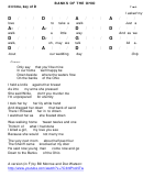 Banks Of The Ohio Chord Chart - 4/4 Time, Key Of D