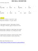 Big Ball In Boston Chord Chart (4/4 Time, Key Of A)