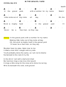 In The Gravel Yard Chord Chart - 4/4 Time, Key Of A