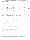 Don Reno & Mack Magaha - I Know You're Married But I Love You Still Chord Chart