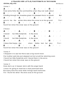 Bill Monroe - (i Traced Her Little) Footprints In The Snow Chord Chart