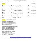 Bill Monroe - Mighty Dark To Travel Chord Chart