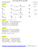 Carter Family - Little Darling Pal Of Mine Chord Chart