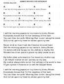 Jimmie Brown The Newsboy Chord Chart - 4/4 Time, Key Of A