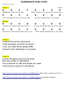 Teardrops In My Eyes Chord Chart - 4/4 Time, Key Of G