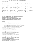 Oh The Raging Sea How It Roars Chord Chart - 4/4 Time, Key Of C
