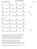 Jim & Jesse - Old Slew Foot Chord Chart