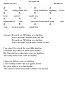 Bill Monroe - On And On Chord Chart